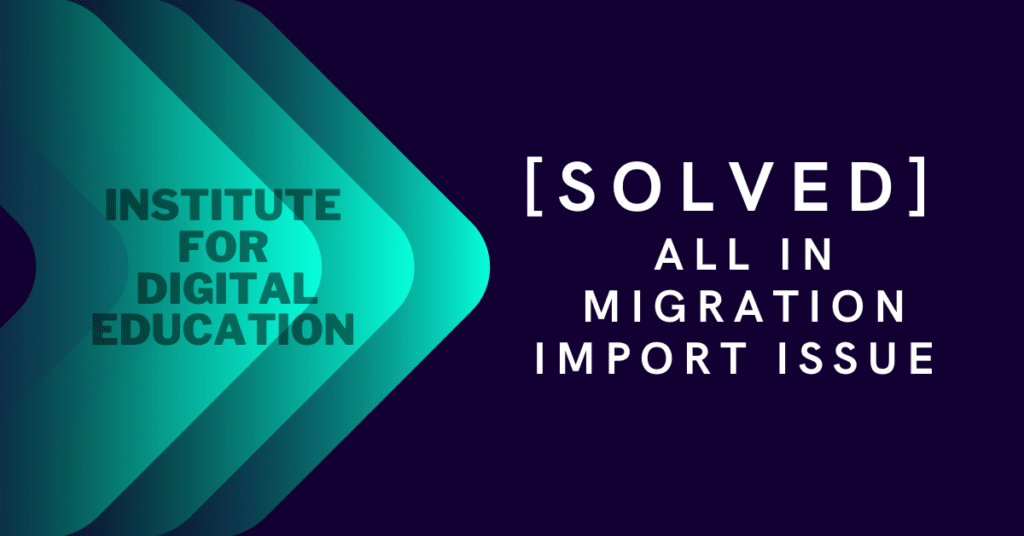 solved all in migration import issue