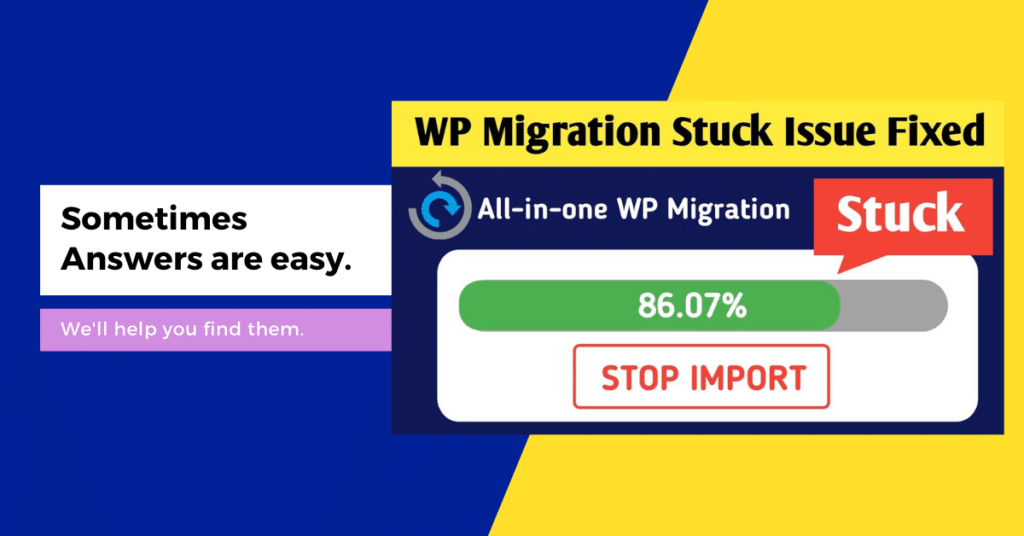 solved all in migration stuck problem