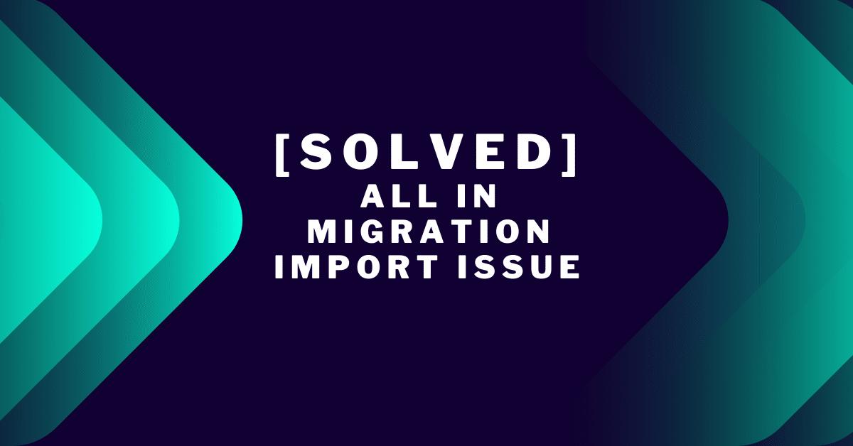 [solved ] wp migration stuck problem